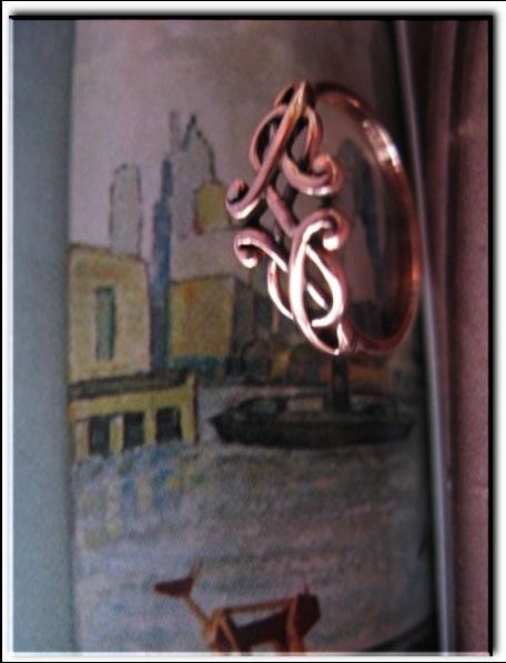 Solid copper Celtic Knot band Size 9 ring CTR1752- 1/4 of an inch wide.