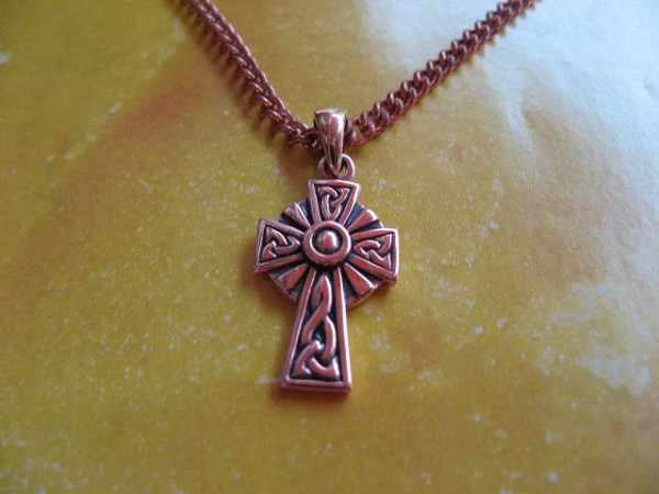 Solid Copper Celtic Cross Pendant #CPD1806