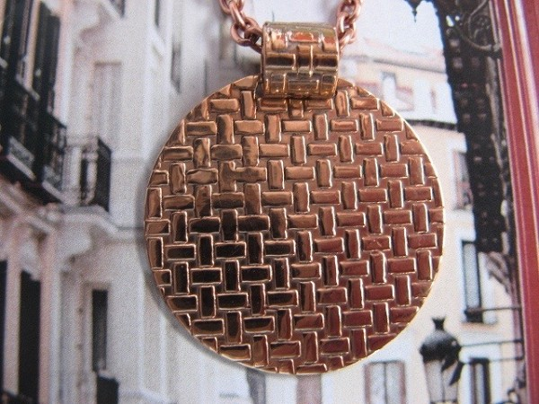 Copper Pendant and Chain Set #629AR