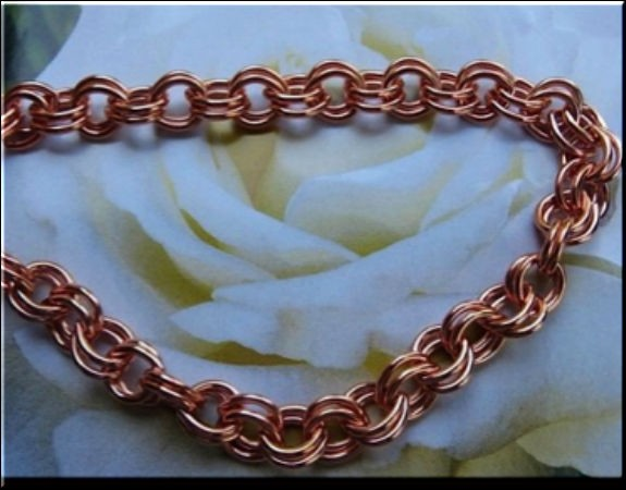 Ladies Solid Copper 7 Inch Bracelet CB682G - 5/16 of an inch wide