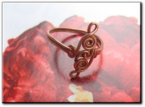 Copper Ring CR933C Size 5 1/2 - 5/16 of an inch wide.