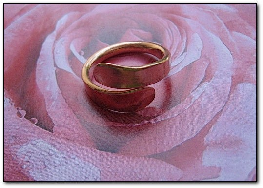 Adjustable Copper Ring 254AR - Size  12 1/2