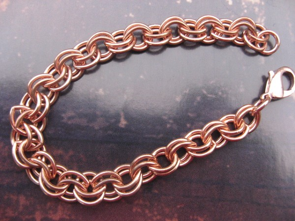 Solid Copper 8 Inch Bracelet CB682G - 5/16 of an inch wide