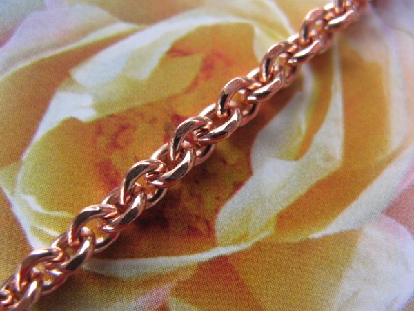 24 inch Length Solid Copper Chain CN105G - 1/8 of an inch wide