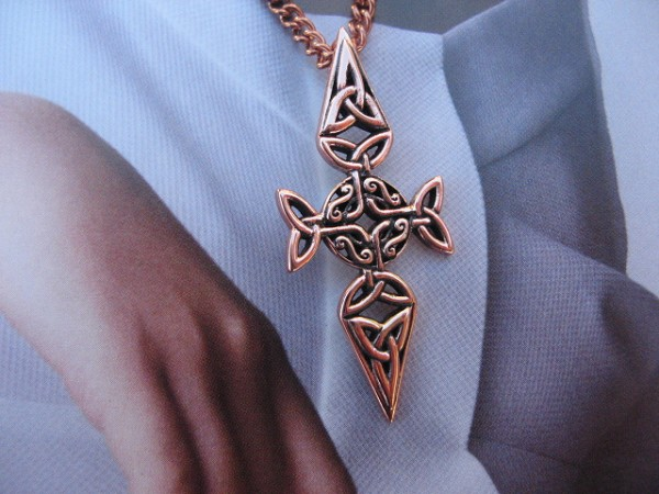 Solid Copper Celtic Cross Pendant and chain set  #CPD1820
