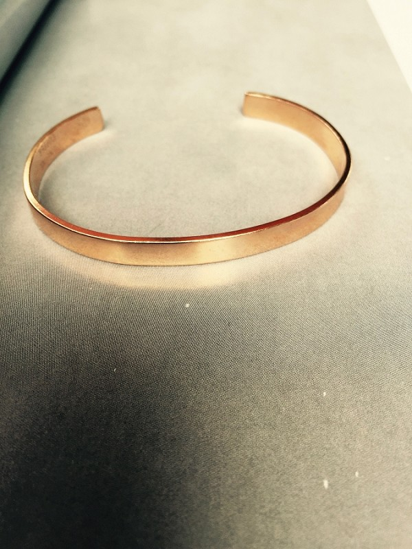 Women's 7 Inch Solid Copper Cuff  Bracelet CB7156T - 3/16 of an inch wide.
