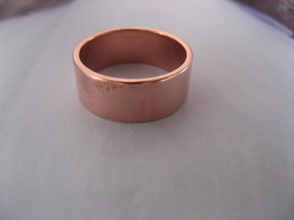 Copper Ring CR50T Size 11 - 5/16 of an inch wide. 8MM - Thick