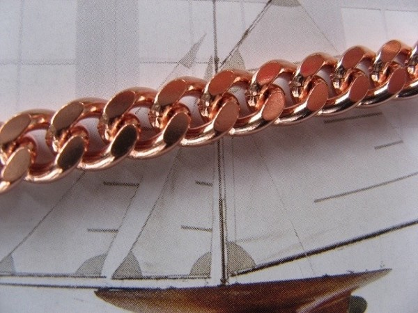 Solid Copper Men's 11 1/2 Inch Bracelet CB106G - 1/4 of an inch wide