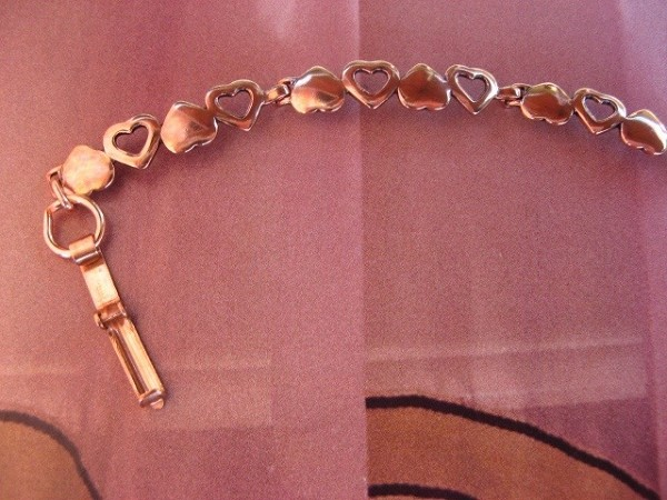 Ladies Solid Copper 7 Inch Bracelet CB295 - 1/4  of an inch wide