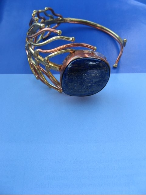 Women's 7 Inch Copper and Brass Cuff Bracelet CB38-B -  1 1/2 inches wide