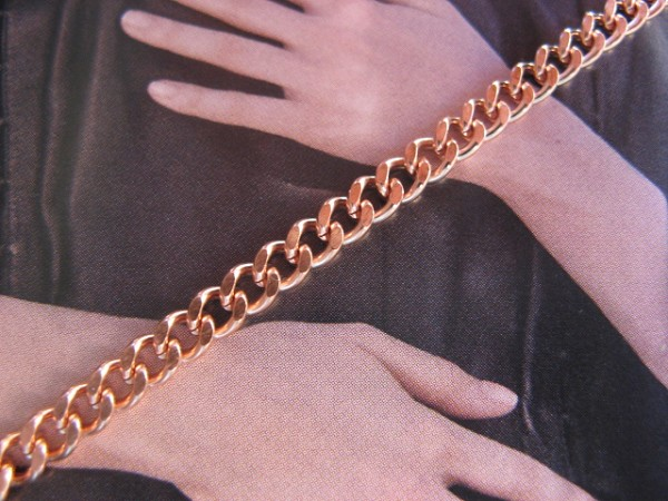 30 inch Length Solid Copper Chain CN684G - 1/8 of an inch wide