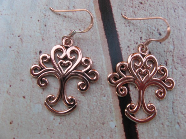 Solid Copper Celtic Tree Of Life Earrings #CER505