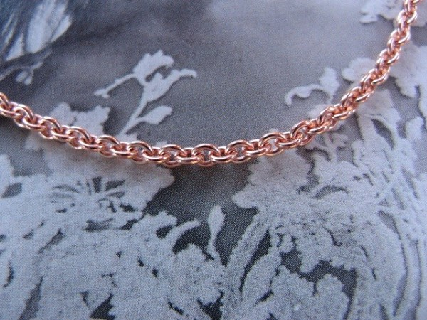 16 inch Length Solid Copper Chain CN726G - 3/16 of an inch wide