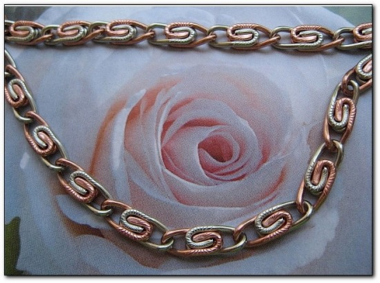 24 Inch Copper and Nickel Mixed Metals Necklace #CN1210D3