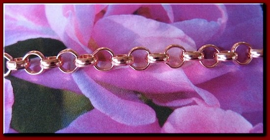 Ladies Solid Copper 7 1/2 Inch Bracelet CB685G - 3/16 of an inch wide