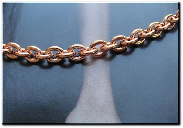 Solid Copper Anklet CA605G - 3/16 of an inch wide - Available in 8 to 12 inch lengths