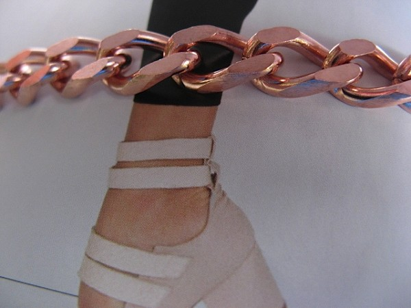 Solid Copper Anklet CA711G - 5/16 of an inch wide  - Available in  8 to 12 inch lengths.