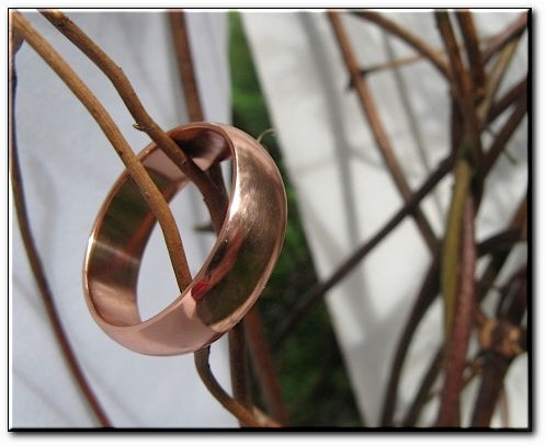 Copper Ring CSM158 - Size 9 - 6mm  wide. - Comfort fit.