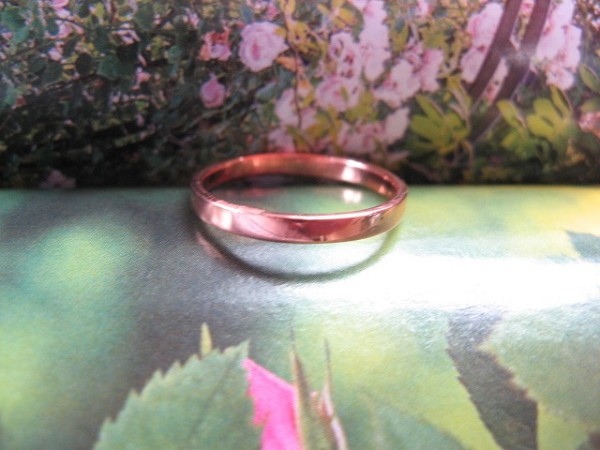 Copper Ring CTR1701 - Size 9 - 1/16 of an inch wide.