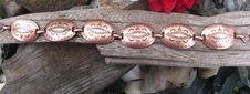 Solid Copper 7 Inch Bracelet CB6071C- 3/4 of an inch wide