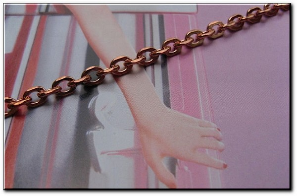 Solid Copper 8 Inch Bracelet CB607G - 1/8 of an inch wide