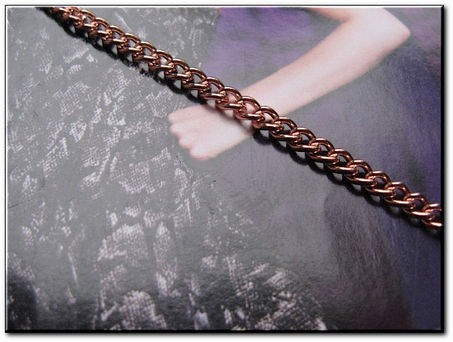 Solid Copper 7 inch Bracelet CB610G- 1/8 of an inch wide