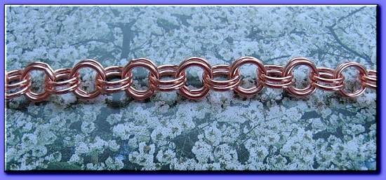 Ladies 6 1/2 Inch Solid Copper Bracelet CB673G  - 5/16 of an inch wide