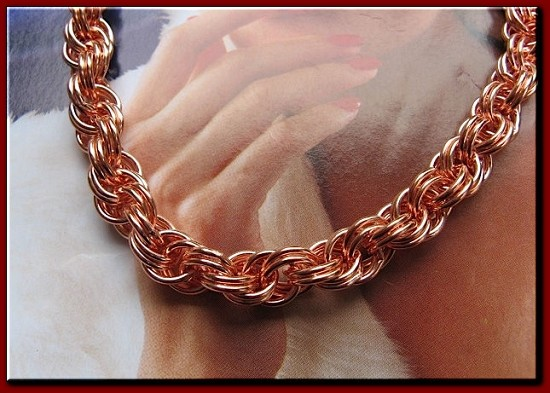 Ladies 7 Inch Solid Copper Bracelet CB686G  - 5/16 of an inch wide
