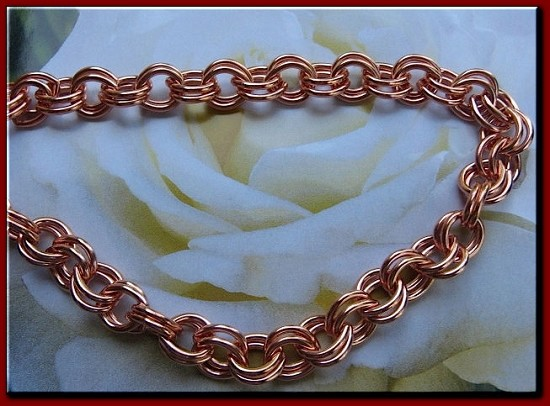 22 inch Length Solid Copper Chain CN682G - 5/16  of an inch wide