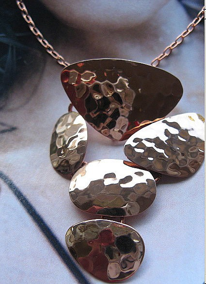 Copper Pendant and Chain Set #172E