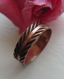 Copper Ring CR0139C5-5 -  Size 5 - 3/16  of an inch wide.