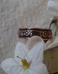 Copper Ring CR032 Size 5 - 1/4 of an inch wide.