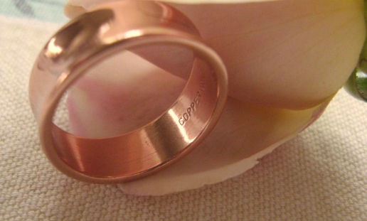Copper Ring CR041 Size 6 - 1/4 of an inch wide.