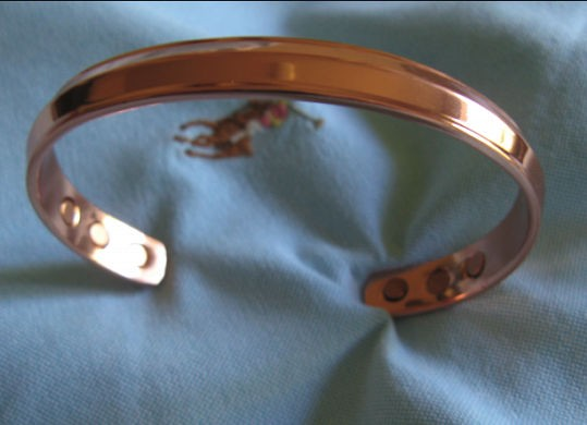 Men S 8 Inch Solid Copper Magnetic Cuff Bracelet Cbm924 3 Of An Wide