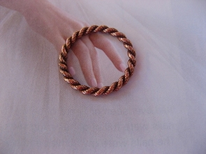 Copper Ring CR0139C1 -  Size 5 - 1/16  of an inch wide.