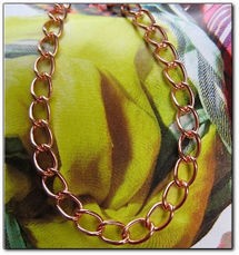 18 Inch Length Solid Copper Chain CN500D5-  3/16 of an inch wide