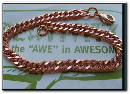Men's 10 1/2 Inch Solid Copper Bracelet CB652G  - 1/4 of an inch wide