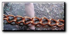 Solid Copper Anklet CA677G - 7/16 of an inch wide - Available in 8 to 12 inch lengths