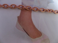 Solid Copper Anklet CA714G - 1/8 of an inch wide - Available in 8 to 12 inch lengths