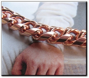 Men's 9 1/2 Inch Solid Copper Bracelet CB624G  - 5/16 of an inch wide