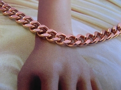 Ladies Solid Copper 7 Inch Bracelet CB719G - 3/16 of an inch wide