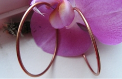 Solid Copper Hoop Earrings CE5337C  -  1 3/4 inches in diameter