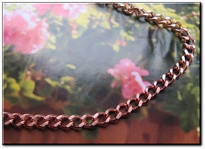 18 Inch Length Solid Copper Chain CN622G -  3/16 of an inch wide