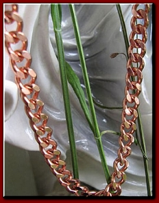 24 inch Length Solid Copper Chain CN641G - 1/4 of an inch wide