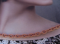 18 inch Length Solid Copper Chain CN714G - 1/8 of an inch wide