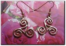 Solid Copper Celtic Knot Earrings #CTE102