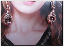 Solid Copper Claddagh Earrings #CER833