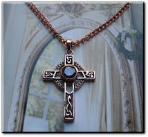 Solid Copper Celtic Cross Pendant and Chain Set  #CPD721