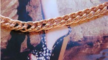 Solid Copper Anklet CA633G - 1/4 of an inch wide - Available in 8 to 12 inch lengths