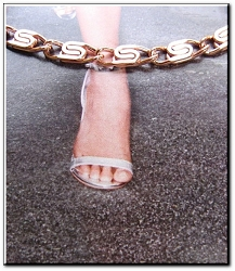 Solid Copper Anklet CA606G - 3/16 of an inch wide - Available in 8 to 12 inch lengths